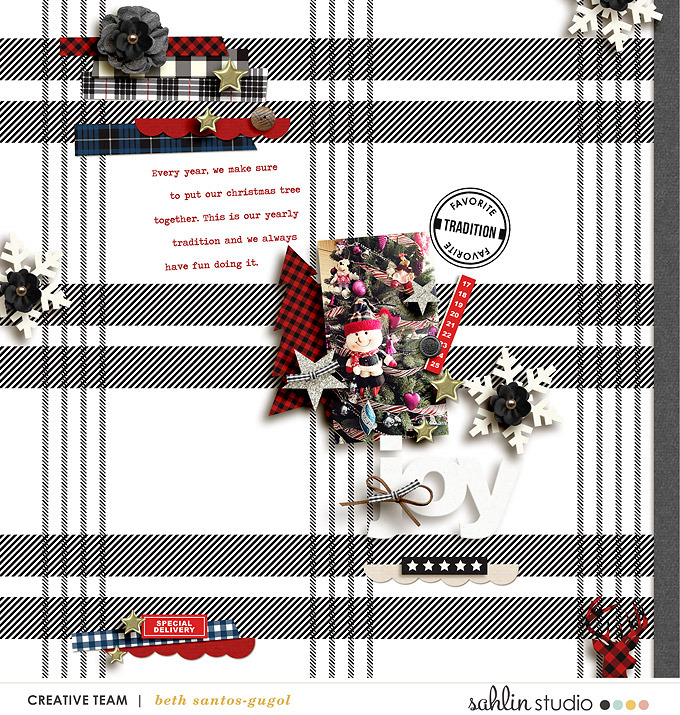 digital scrapbook layout by sucali featuring Mad For Plaid by Sahlin Studio