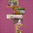digital scrapbook layout featuring Autumn Mixed Media by Sahlin Studio