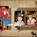 digital scrapbooking layout featuring Say It With Metal: Months and Dates by Sahlin Studio