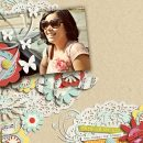digital scrapbooking layout featuring my happiness by sahlin studio