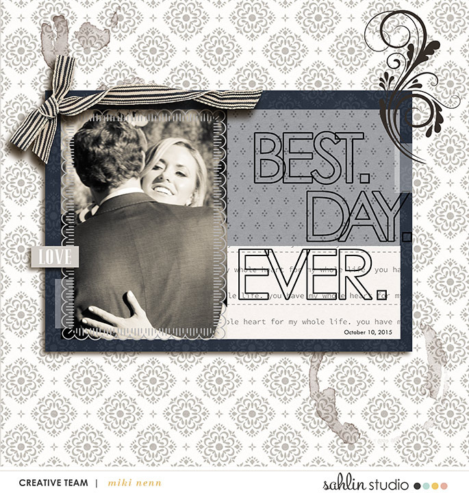 digital scrapbooking layout created by mikinenn featuring products by Sahlin Studio