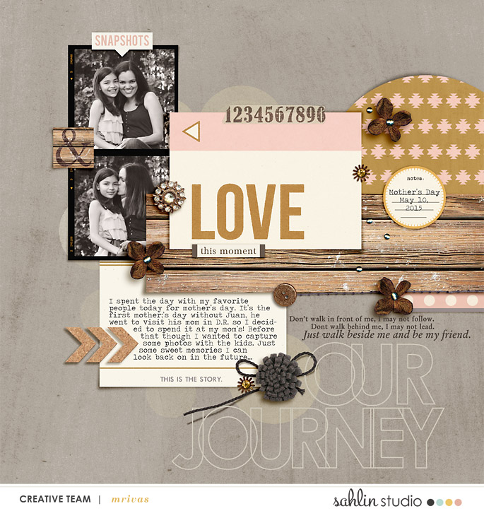 digital scrapbooking layout created by mrivas2181 featuring products by Sahlin Studio
