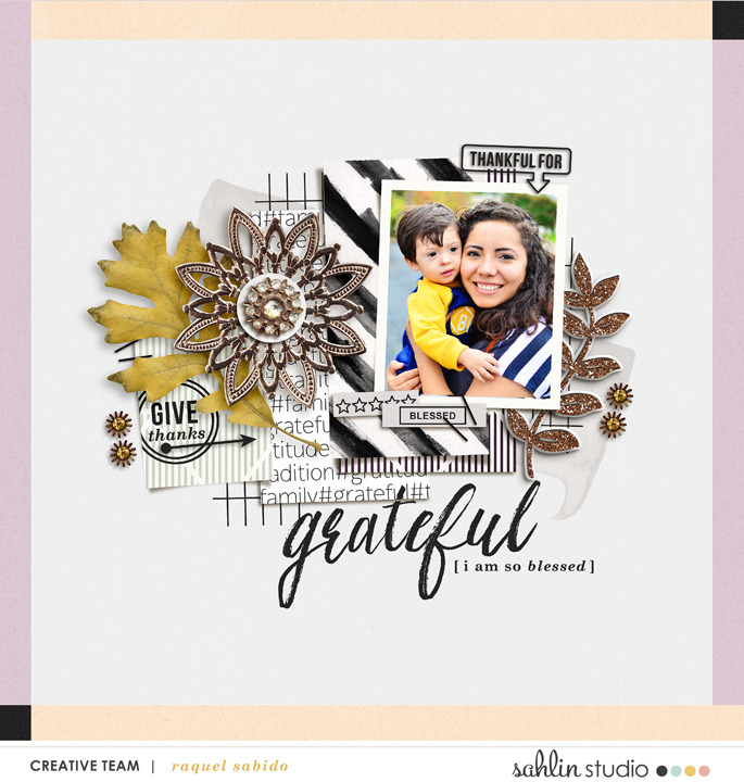digital scrapbooking layout created by RaquelS featuring products by Sahlin Studio