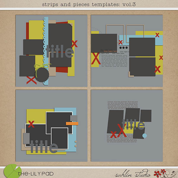 Strips n' Pieces Templates : Vol 3 by Sahlin Studio