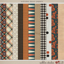 Autumn Moon Papers by Sahlin Studio