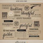 Gather|Digital Stamps|Sahlin Studio