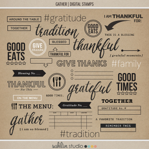 Gather|Digital Stamps|Sahlin Studio