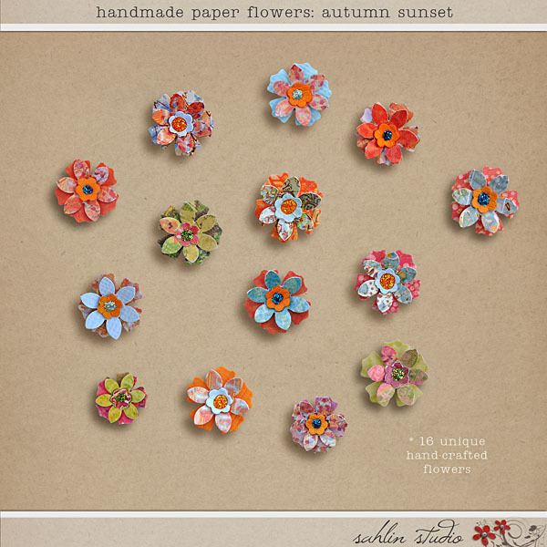Handmade Paper Flowers: Autumn Sunset by Sahlin Studio