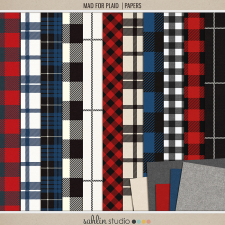 Mad for Plaid (Papers) by Sahlin Studio | Perfect for Project Life, December Daily or Document your December projects!!