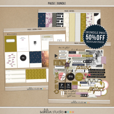 Pause | BUNDLE by Sahlin Studio - Gratitude Scrapbook Kit