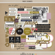 Pause | Elements by Sahlin Studio - Gratitude Scrapbook Kit