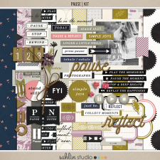 Pause | Kit by Sahlin Studio - Gratitude Scrapbook Kit