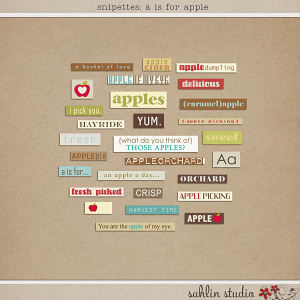 Snipettes: A is for Apple by Sahlin Studio