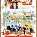digital scrapbooking layout featuring modern words: school grades by sahlin studio