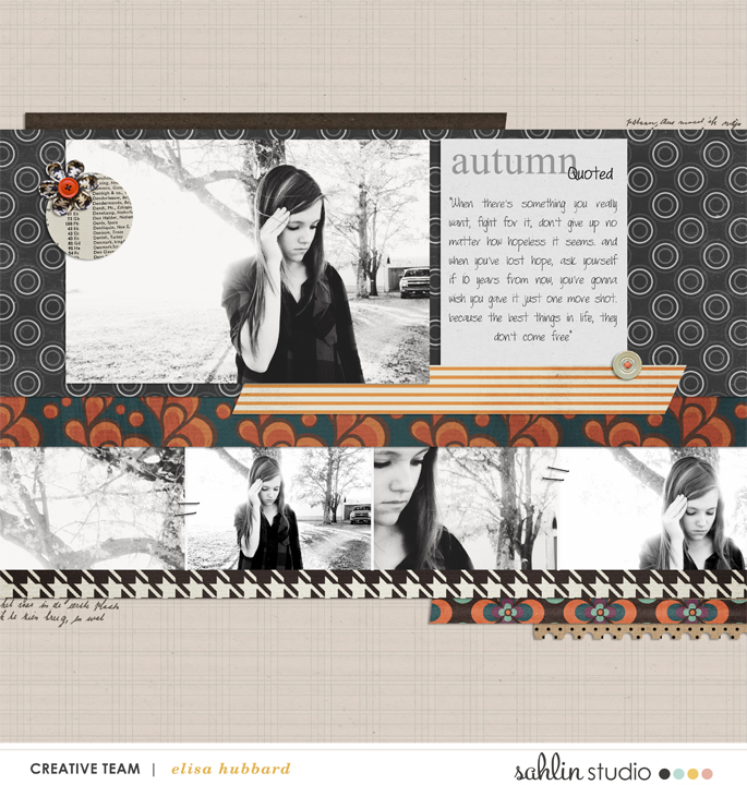 digital scrapbooking layout created by EHStudios featuring the November FREE Template by Sahlin Studio
