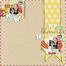 digital scrapbook layout featuring Small Blessings Word Art by Sahlin Studio