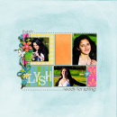 digital scrapbooking layout featuring Say It With Metal: Spring by Sahlin Studio