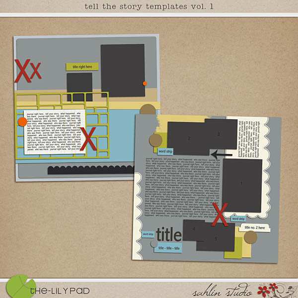 Tell the Story Templates vol. 1 by Sahlin Studio