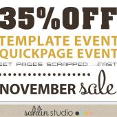 Template & Quickpage EVENT!! Sahlin Studio November Sale 30%OFF