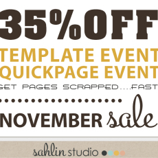 Template & Quickpage EVENT!! Sahlin Studio November Sale 30%OFF