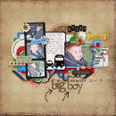 digital scrapbooking layout featuring Tiny Black Alpha by Sahlin Studio
