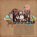 digital scrapbook layout featuring Worn Scuffed Chipboard Alpha by Sahlin Studio