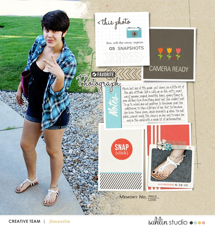 digital scrapbooking layout created by fonnetta featuring flashback by sahlin studio
