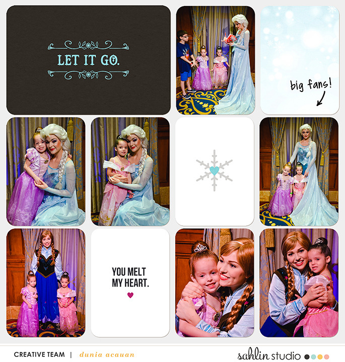 Disney's Frozen digital Project Life layout  featuring Project Mouse: Ice by Britt-ish Designs and Sahlin Studio