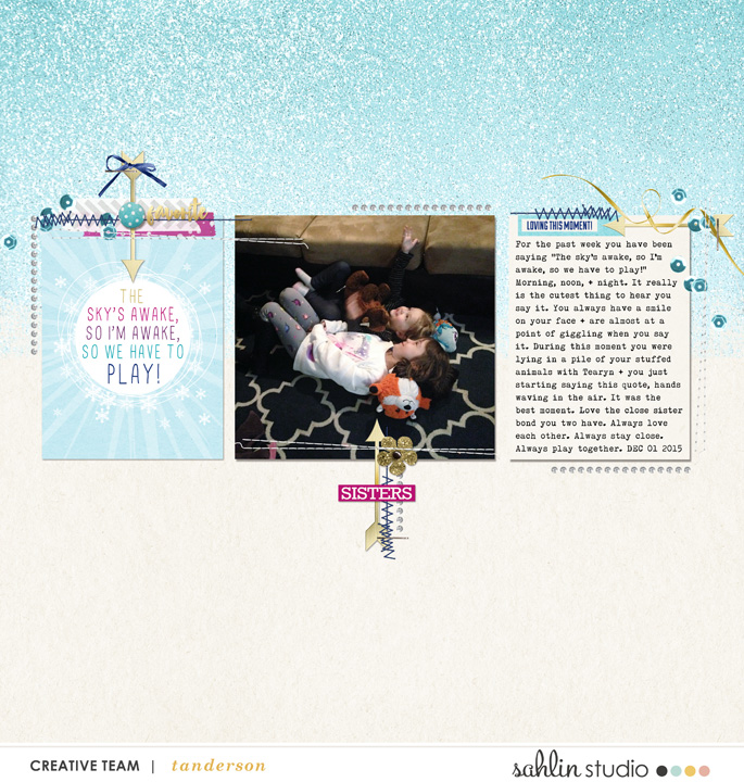 Sisters digital scrapbooking layout featuring Project Mouse: Ice by Britt-ish Designs and Sahlin Studio