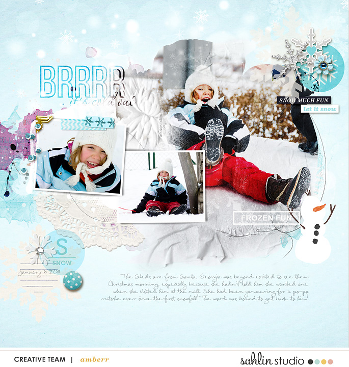 Snow Fun digital scrapbooking layout by amberr featuring Project Mouse: Ice by Britt-ish Designs and Sahlin Studio