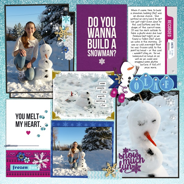 Winter Fun digital Project Life layout featuring Project Mouse: Ice by Britt-ish Designs and Sahlin Studio