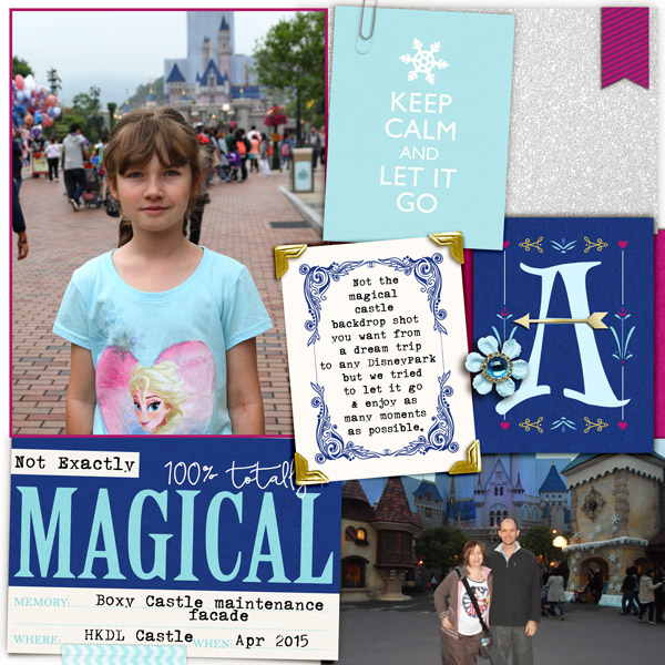 Disneyland digital scrapbooking layout  featuring Project Mouse: Ice by Britt-ish Designs and Sahlin Studio