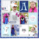 Disney's Frozen digital Project LIfe page Snow Fun digital Project Life page featuring Project Mouse: Ice by Britt-ish Designs and Sahlin Studio