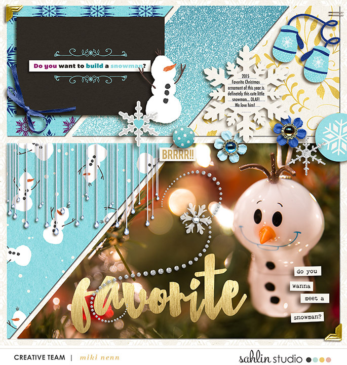 Holiday digital scrapbooking page featuring Project Mouse: Ice by Britt-ish Designs and Sahlin Studio