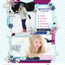 Winter digital scrapbook layout featuring Project Mouse: Ice by Britt-ish Designs and Sahlin Studio