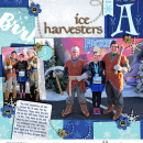 Disney Ice Harvesters meet and greet digital scarpbook layout featuring Project Mouse: Ice by Britt-ish Designs and Sahlin Studio