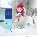 Snow Fun digital scrapbooking page featuring Project Mouse: Ice by Britt-ish Designs and Sahlin Studio