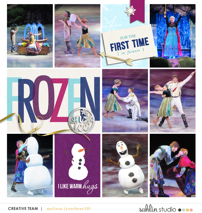 Frozen on Ice digital Project Life layout featuring Project Mouse: Ice by Britt-ish Designs and Sahlin Studio