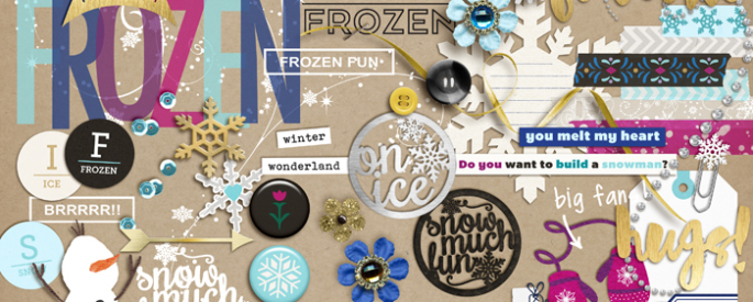 Project Mouse: Ice (Elements) by Britt-ish Designs and Sahlin Studio - Perfect for your Project Life or Project Mouse albums for scrapbooking Disney's Frozen or other magical winter memories.