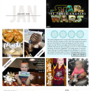 January digital Project LIfe inspiration featuring Photo Tabs and Calendar cards by Sahlin Studio