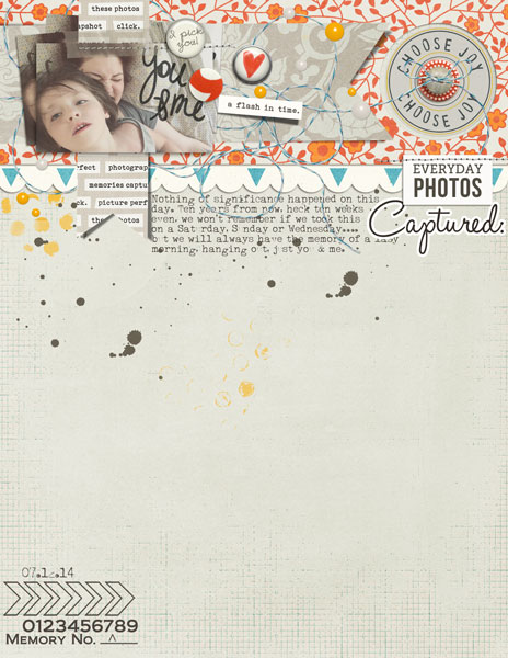 Captured Photos Digital Scrapbooking layout featuring Flashback by Sahlin Studio