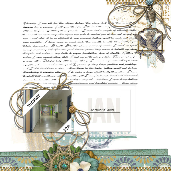 January digital scrapbooking inspiration featuring Photo Tabs by Sahlin Studio