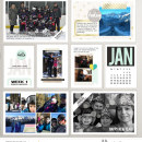 January Project Life inspiration featuring Photo Tabs and Calendar Cards by Sahlin Studio