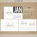 2016 Calendar Cards by Sahlin Studio - Perfect for Project Life or 365!!