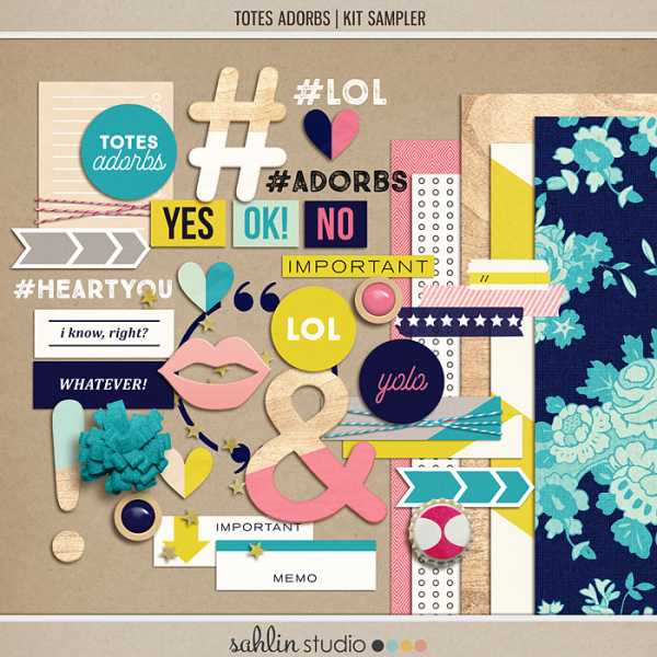 Totes Adorbs | Kit by Sahlin Studio - Perfect for digital scrapbooking or Project Life albums!!
