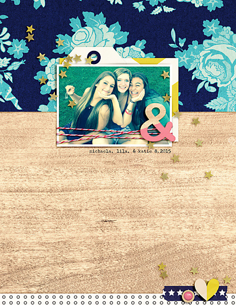 Digital scrapbooking page  using Totes Adorbs by Sahlin Studio