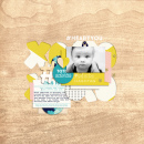 #HeartYou Digital scrapbooking page using Totes Adorbs by Sahlin Studio
