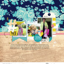 #FirstDay Digital scrapbooking page using Totes Adorbs by Sahlin Studio