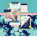 Tween Talk Digital scrapbooking page using Totes Adorbs by Sahlin Studio