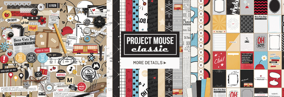 Project Mouse: Classic by Britt-ish Designs and Sahlin Studio - Perfect for Project Mouse or Project Life albums!